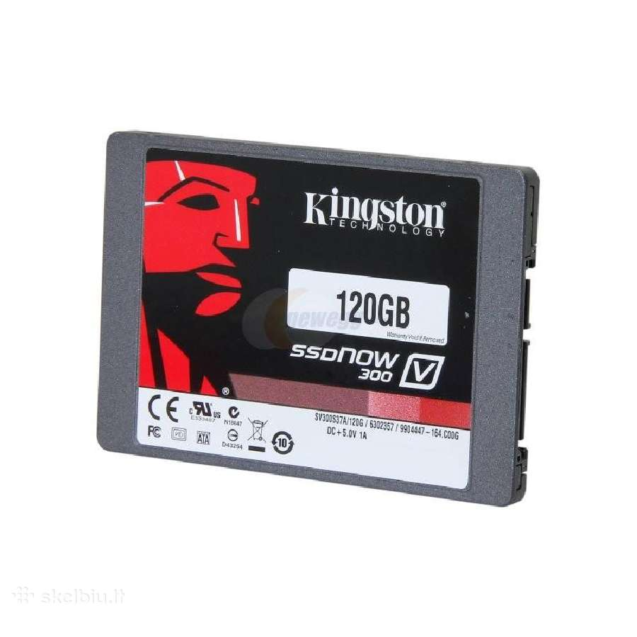 Kietasis SSD Kingston V300 120gb Sata3, 450/450mbs