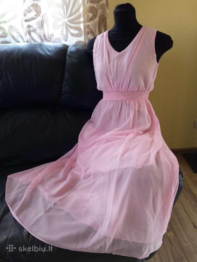 Ilga rožinė suknelė, L dydis