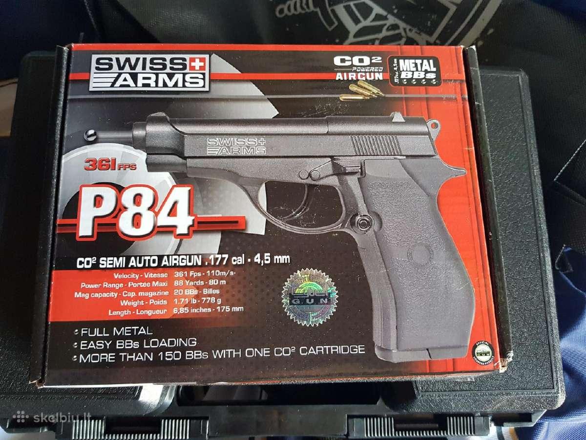 Airsoft Co2 pistoletas P84 full metal 4,5mm