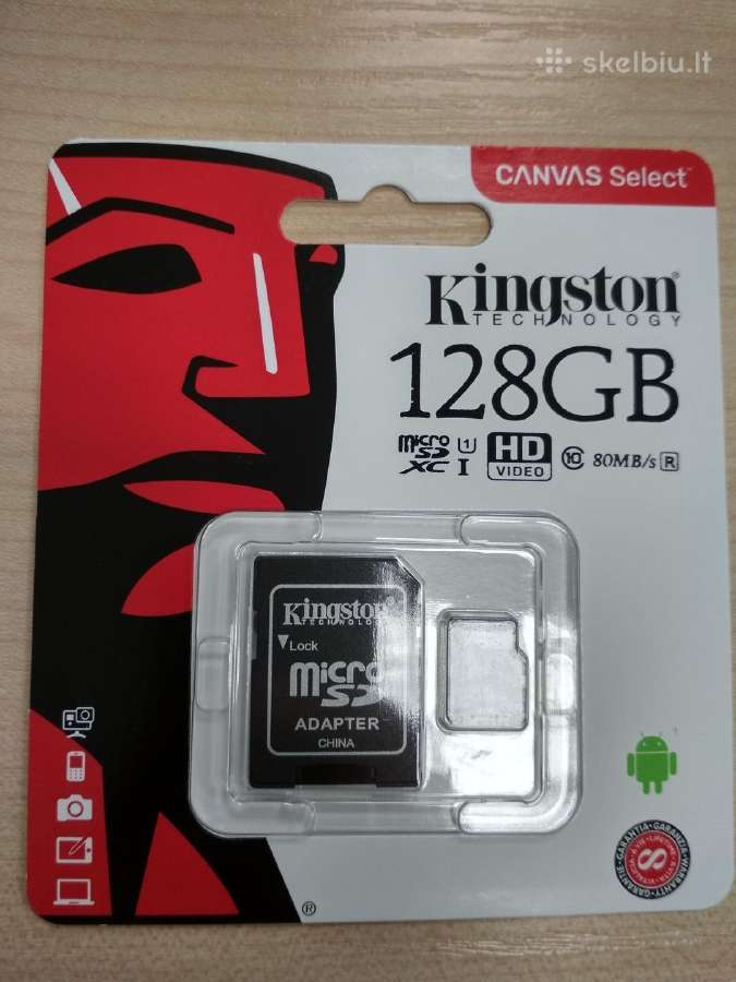 Kingston 128 GB micro Sd kortelės