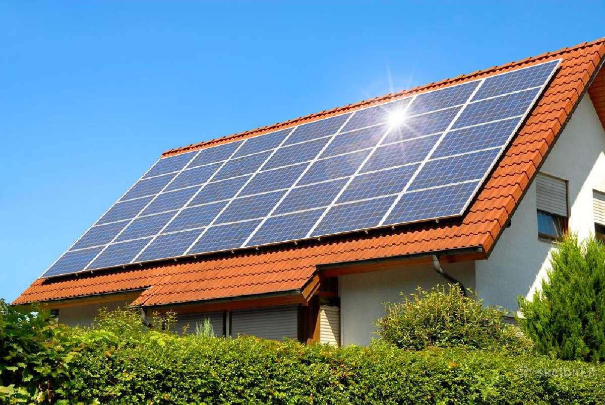 Saulės elektrinės, baterijos, moduliai