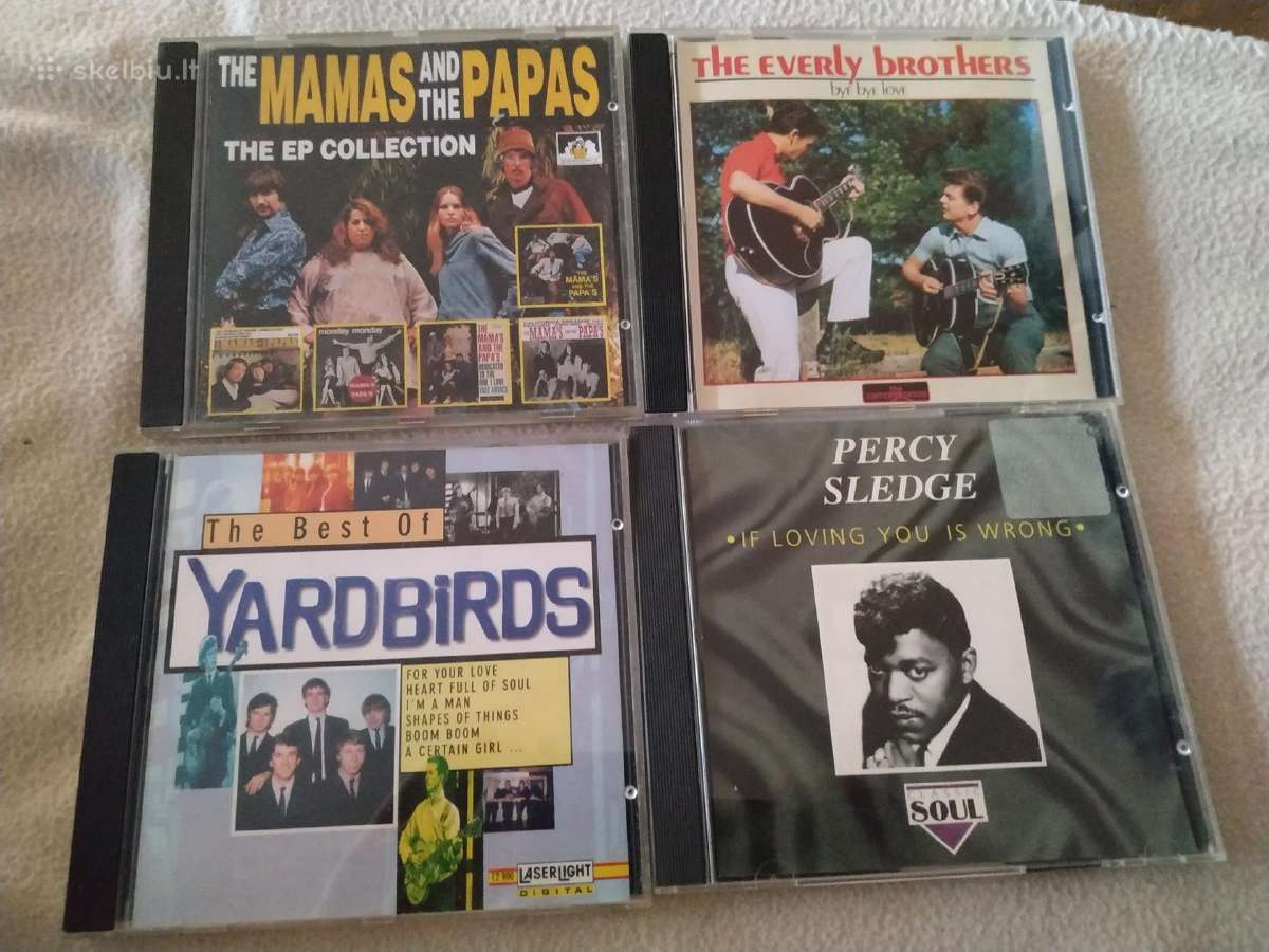 Percy Sledge everly Brothers Yardbirds CD
