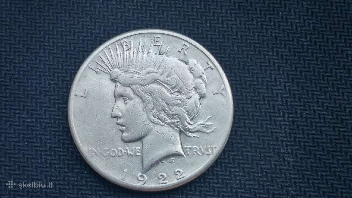 1 doleris - one Peace Dollar - sidabrinis - 1922s