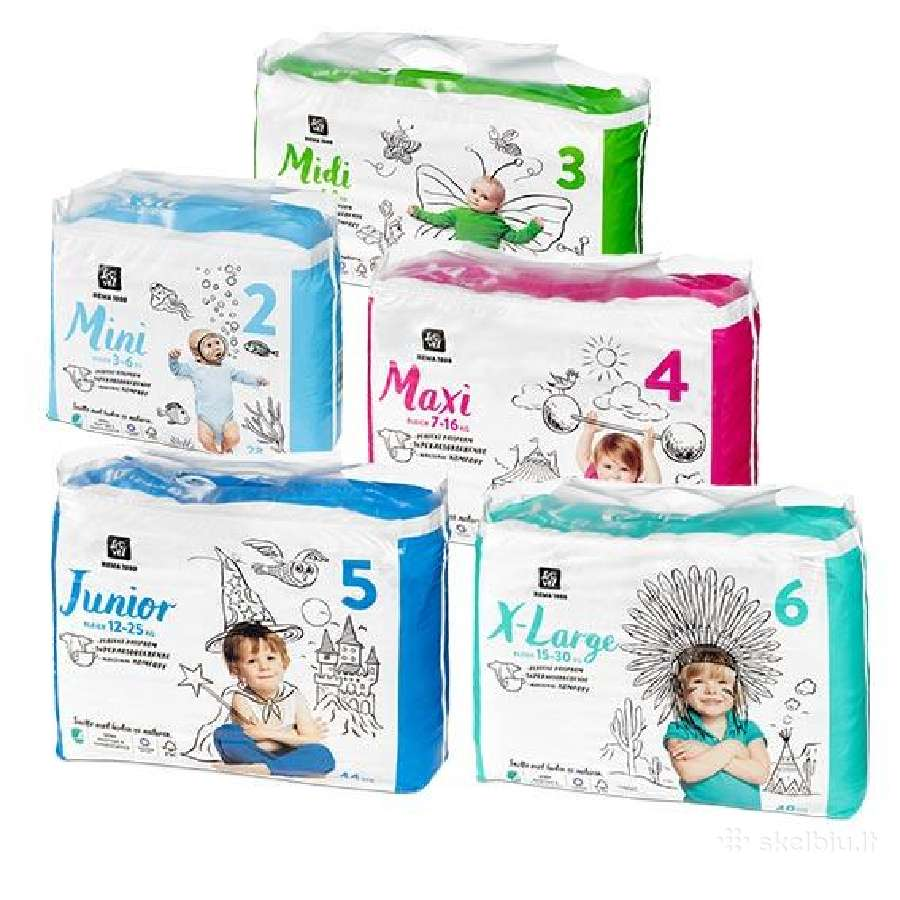 Bleer, Coop, Libero, Lille Go, Mamia, Pampers
