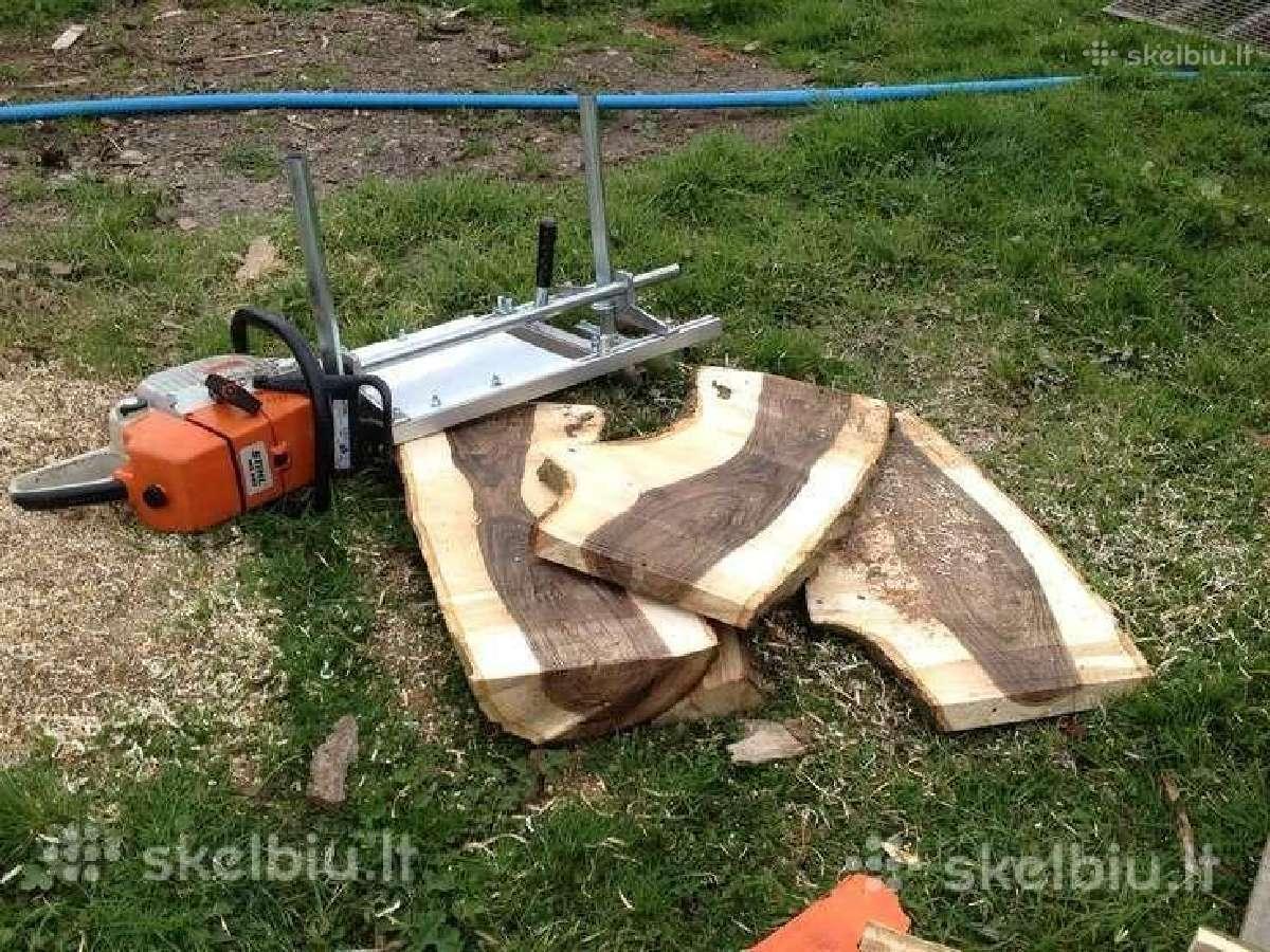 Mobilus medienos pjovimo gateriukas, stakles
