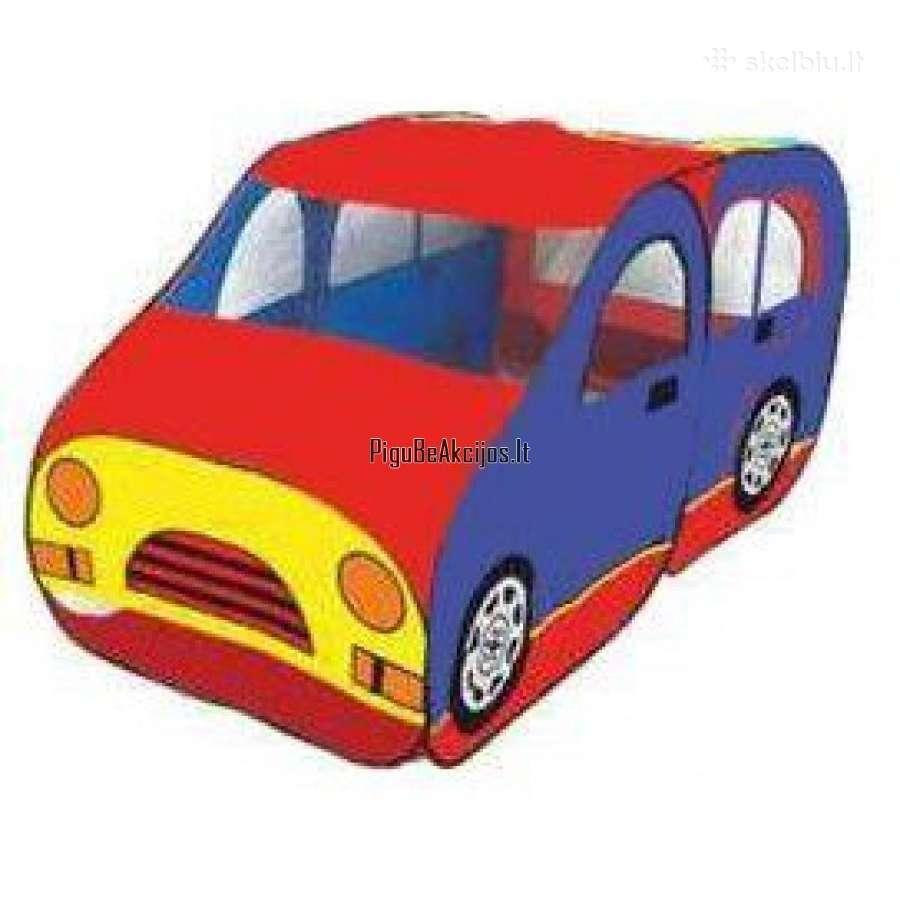 Vaikiška palapinė-mašina