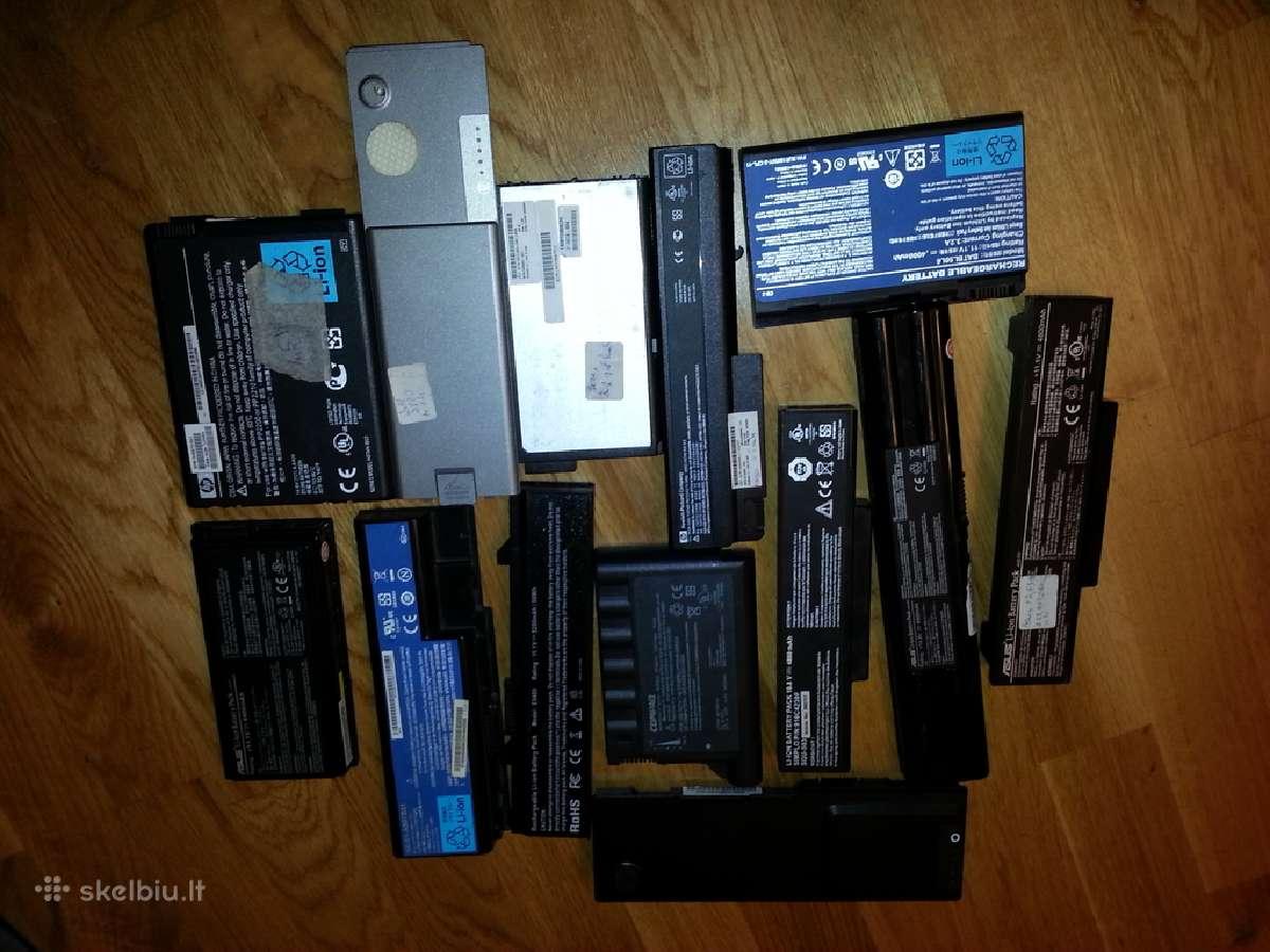 Naudotos baterijos laptopam