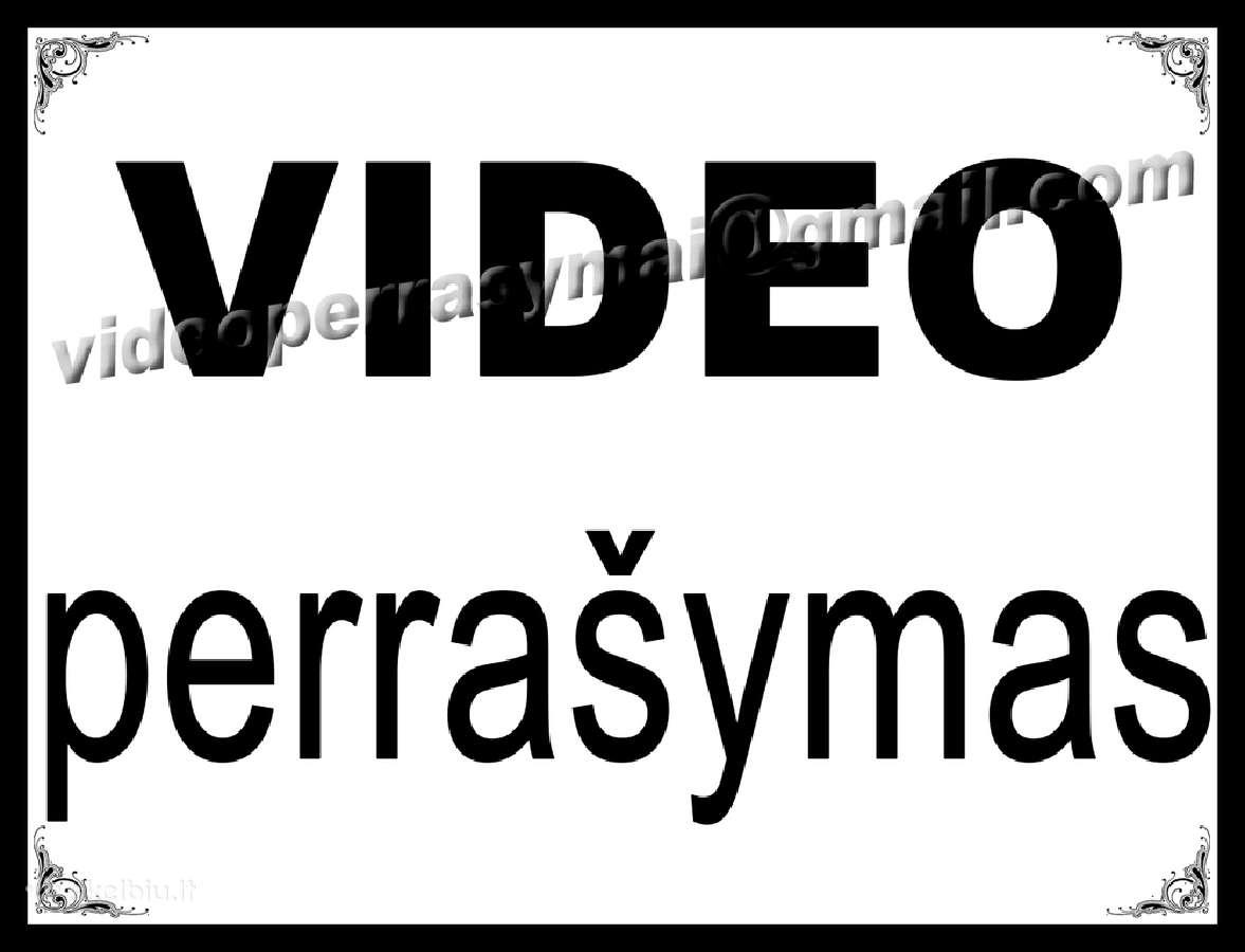 Video kasetes perrašome į Usb Flash HDD Dvd