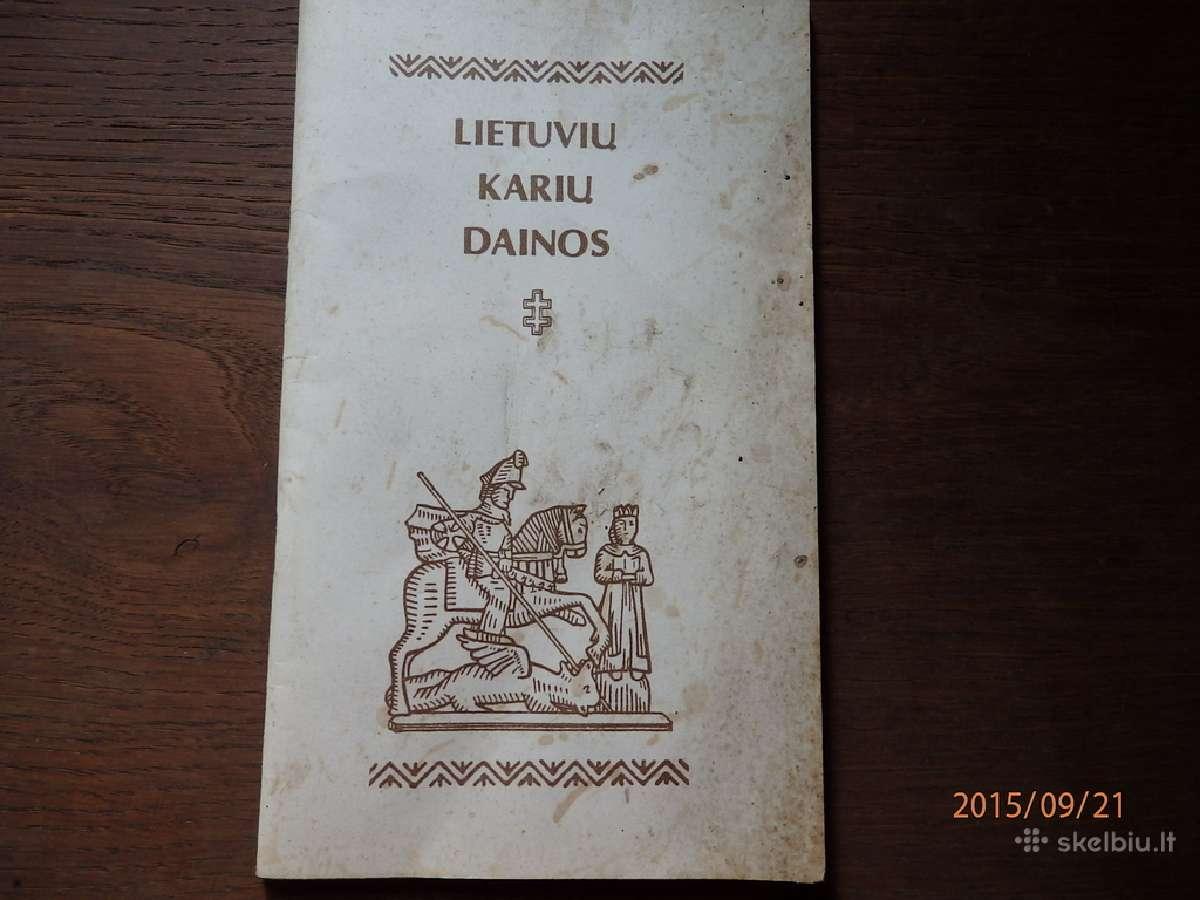 Sena karine dainu knygute