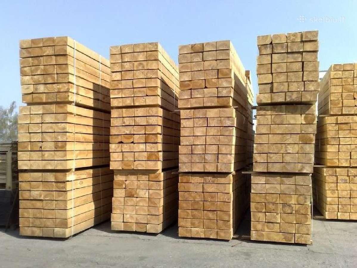 Statybinė mediena! Tik nuo 129 eur/m3