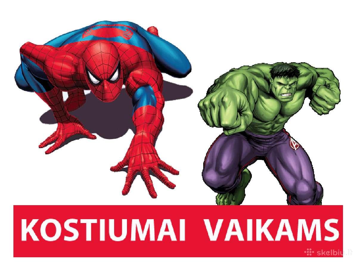 Žmogus Voras, Betmenas, Superman, Halk, pigiau