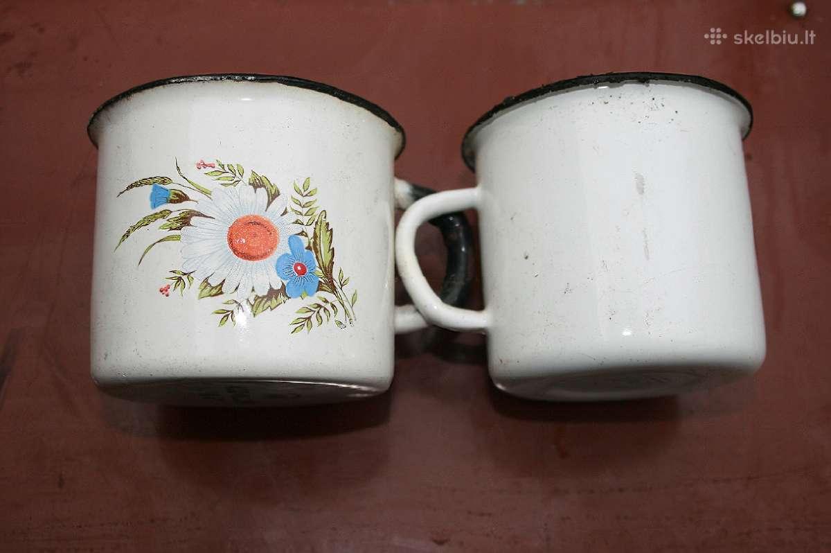 Emaliuoti puodeliai