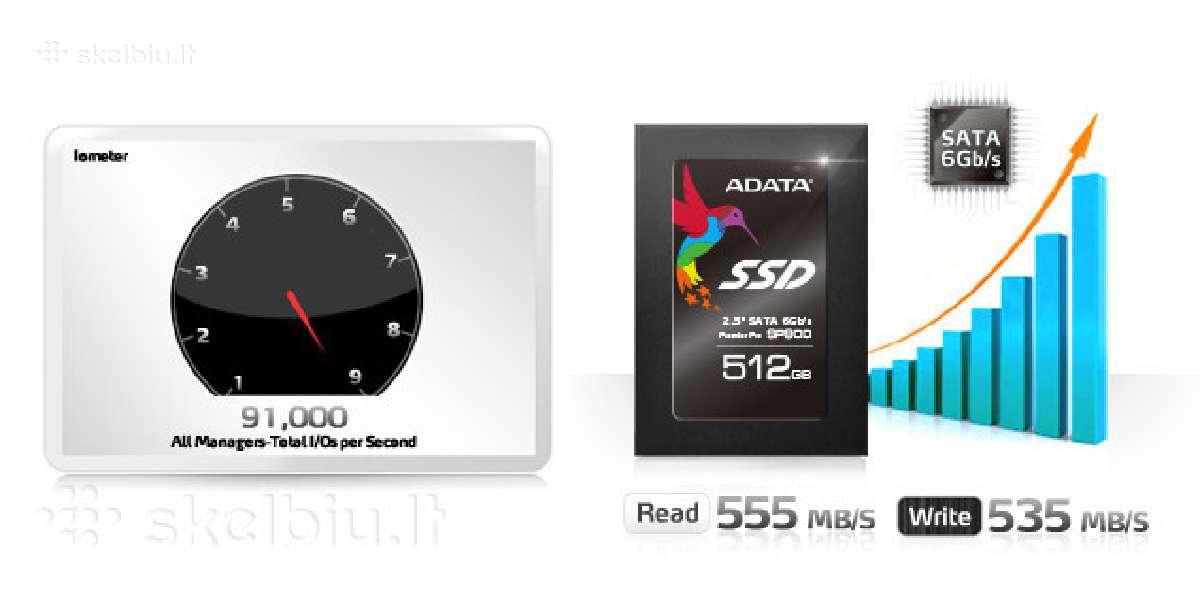 SSD 30gb - 1tb ir HDD 80gb