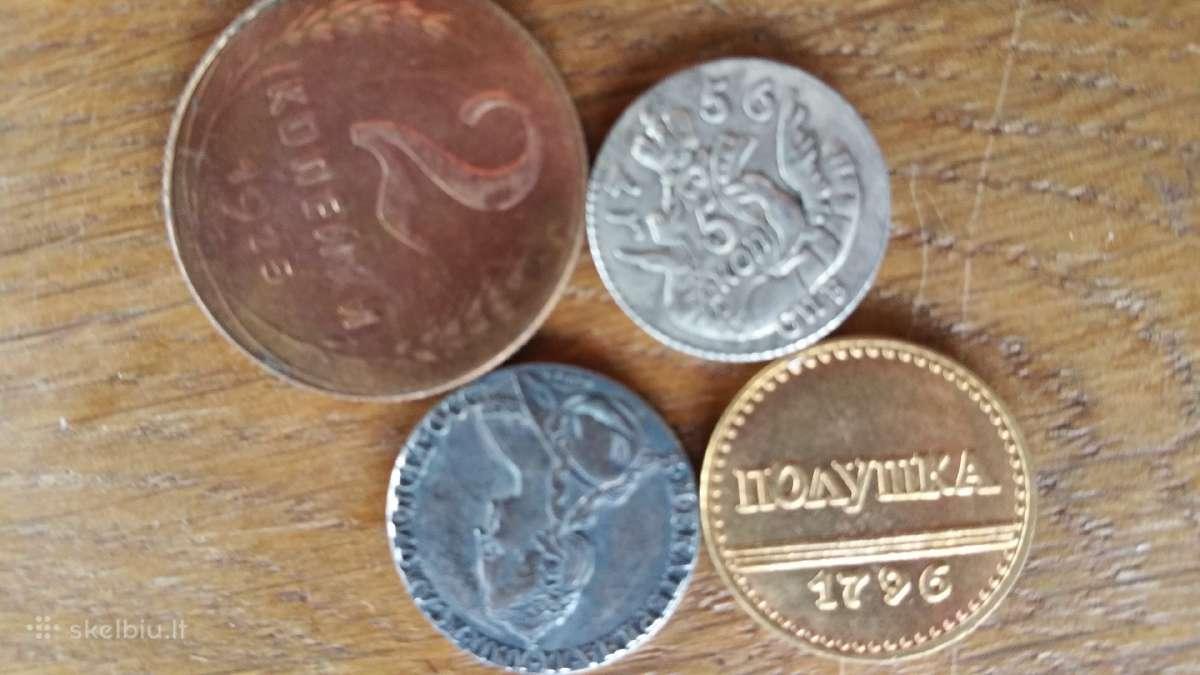 Rusiškos monetų kopijos po 5 eurus.
