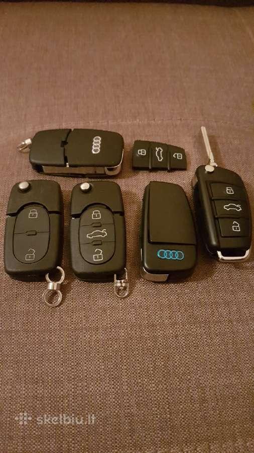 Audi raktas A4 A5 A6 A8 korpusai raktai Pultelis