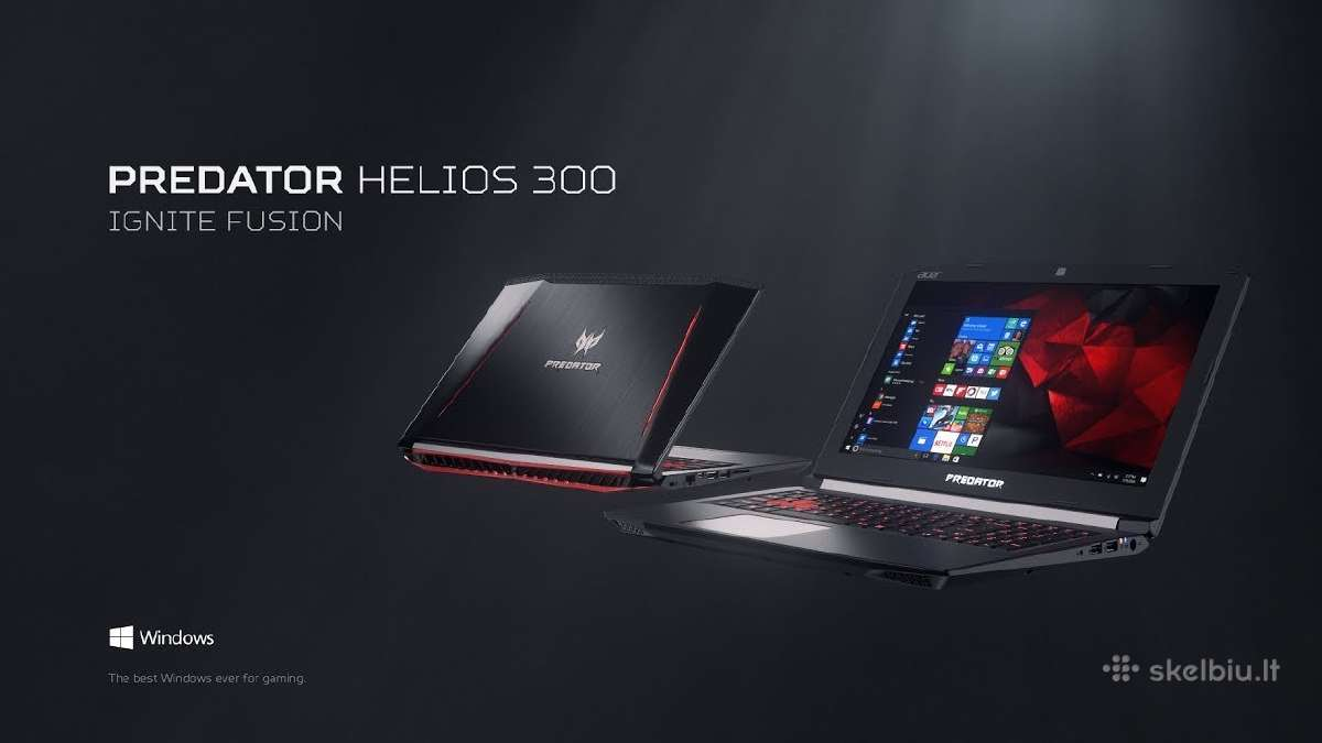 Acer Predator Nitro i5/i7 gtx1050, Asus notebookai