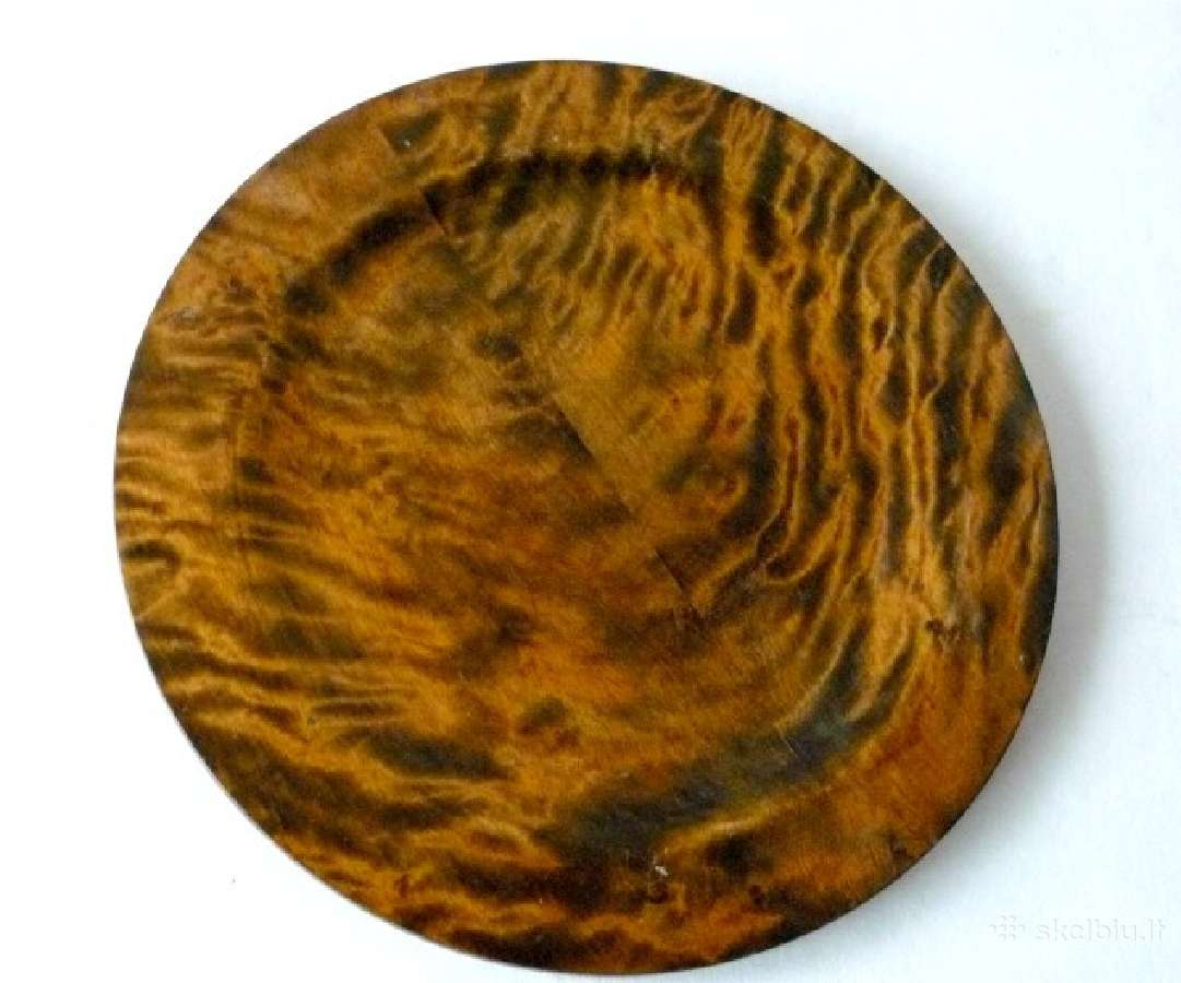 Didelės dekoratyvinės medinės lėkštės