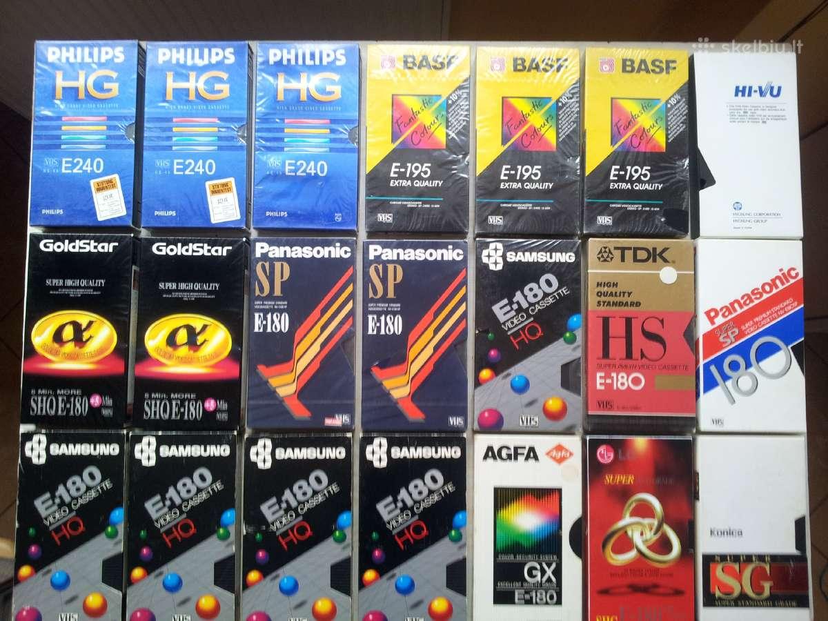 Aukstos klases Philips Hg, Basf Eq video kasetes