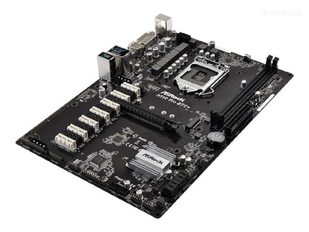 Naujos Asrock H110 Pro Btc+