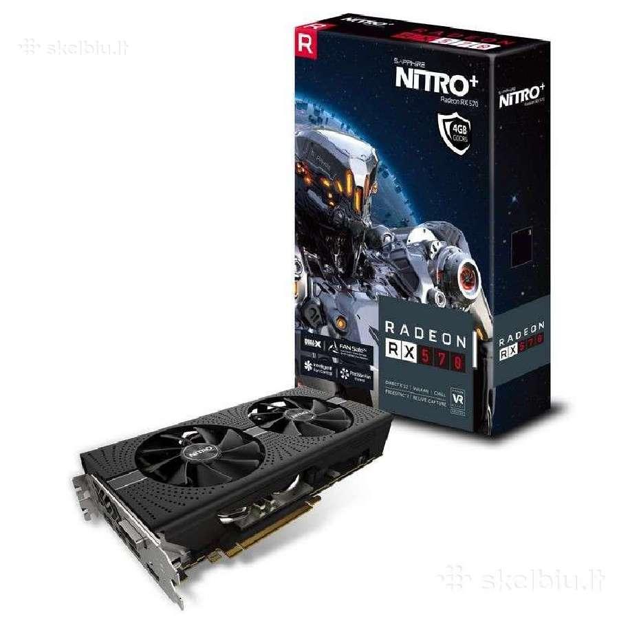 Vaizdo plokštė Sapphire Nitro+ Radeon Rx 570 4gb