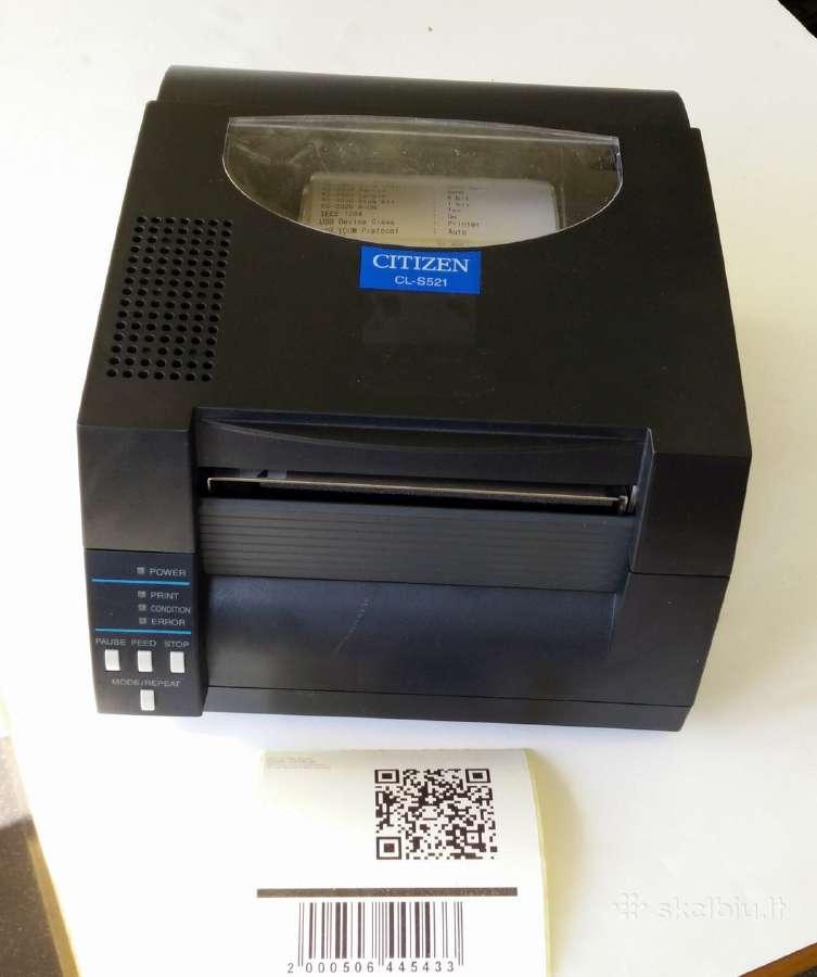 Citizen Cl-s521 lipdukų spausdintuvas kaip naujas