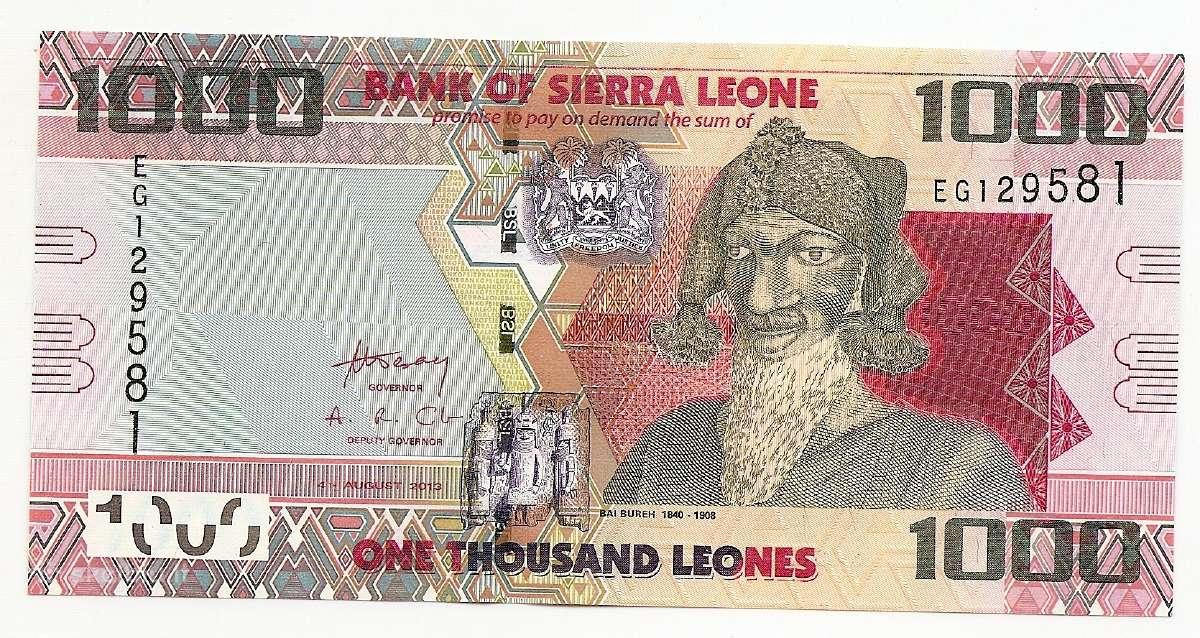 S.leones 1000 leones 2013 P30b