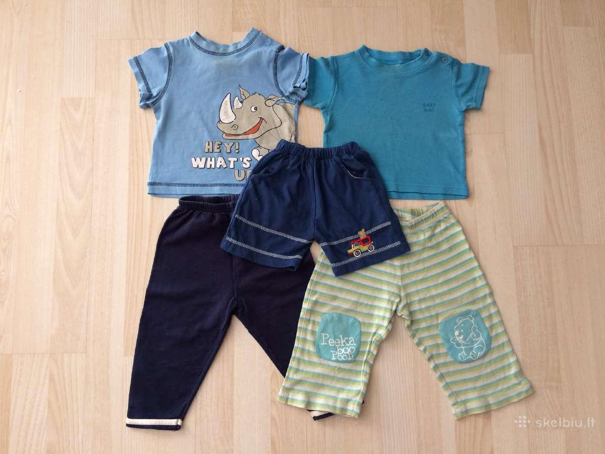 Marškinėliai, kelnės, šortai 74 - 80 cm 5 vnt.
