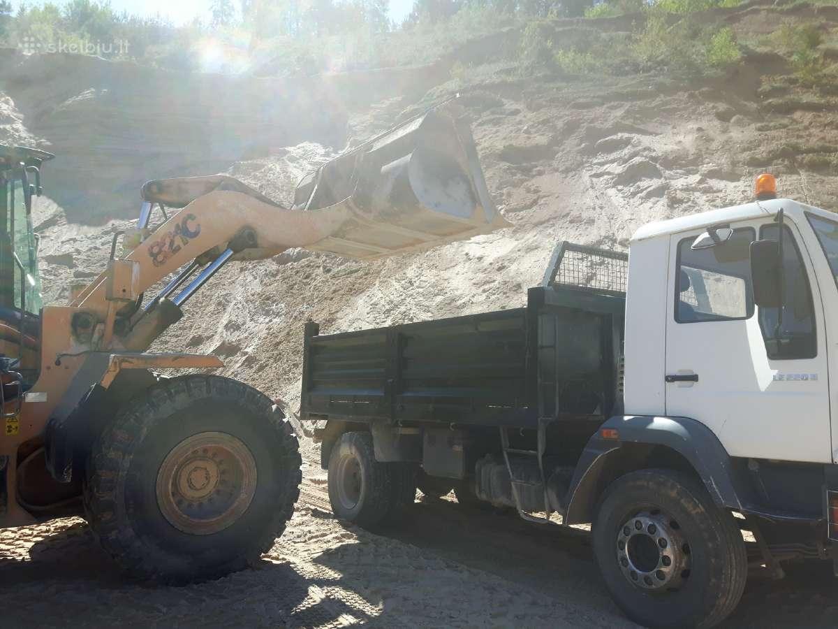 Žvyras smėlis skalda maltas betonas atsijos
