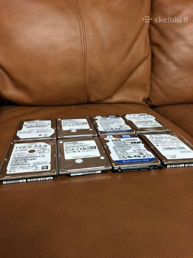 Kietieji diskai HDD Laptopams 320gb 500gb 1tb