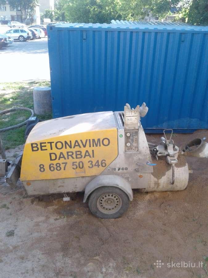 Betonavimas, pramoninis betonavimas.