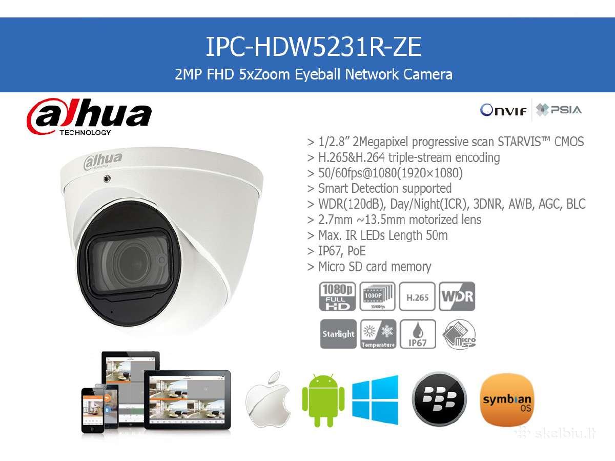 Dahua Starlight Ip Kamera su zoom 5x Mic Ir Ip67