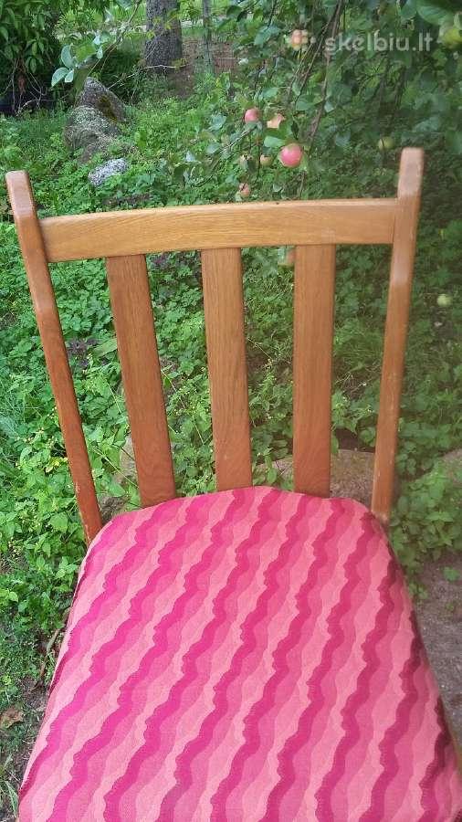 6 tvirtos ąžuolinės kėdės