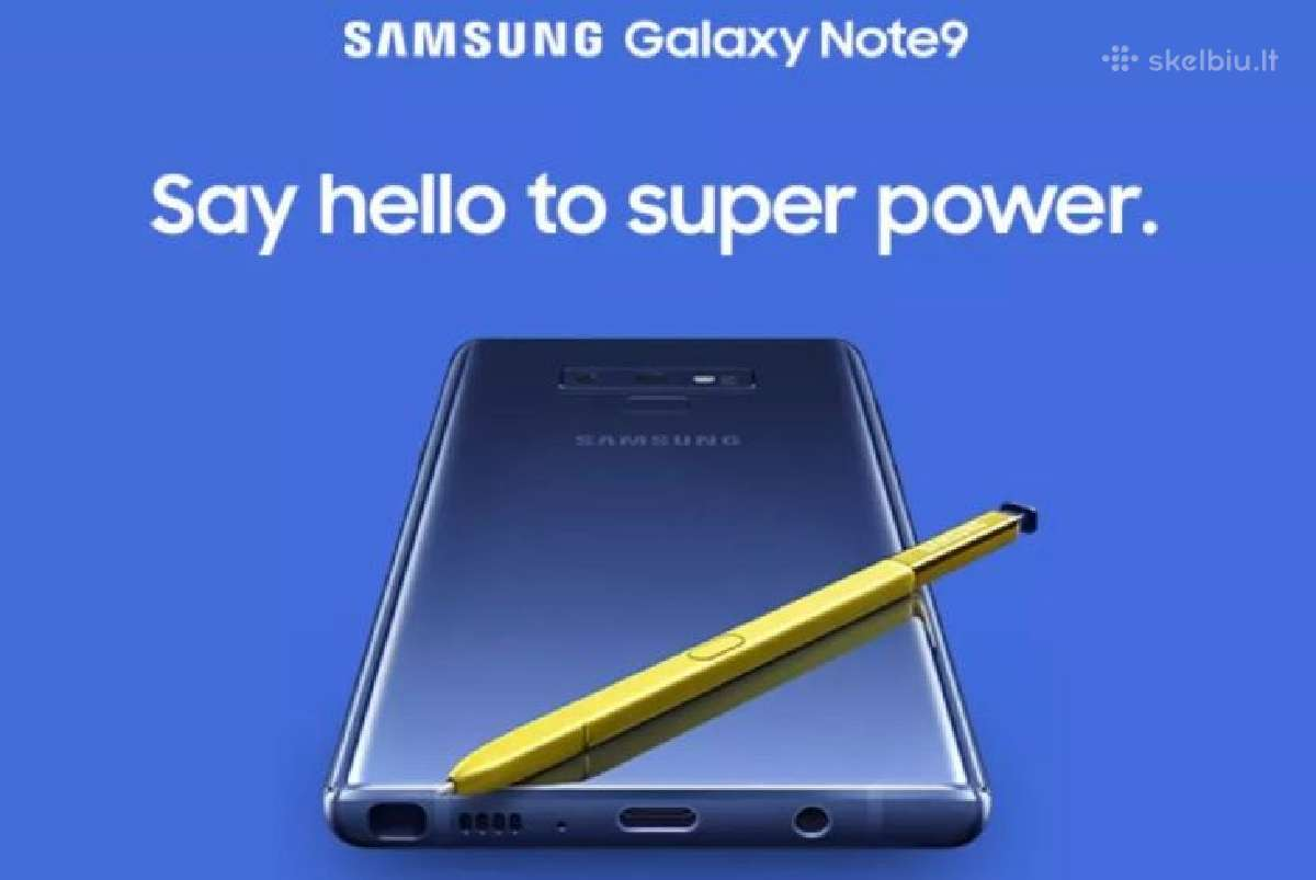 Samsung Galaxy Note 9 naujas, garantija