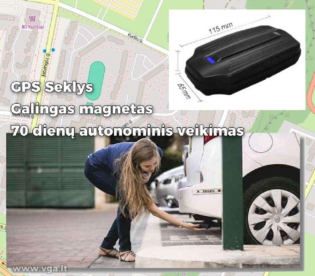 GPS seklys su galingu magnetu, yra keli modeliai.