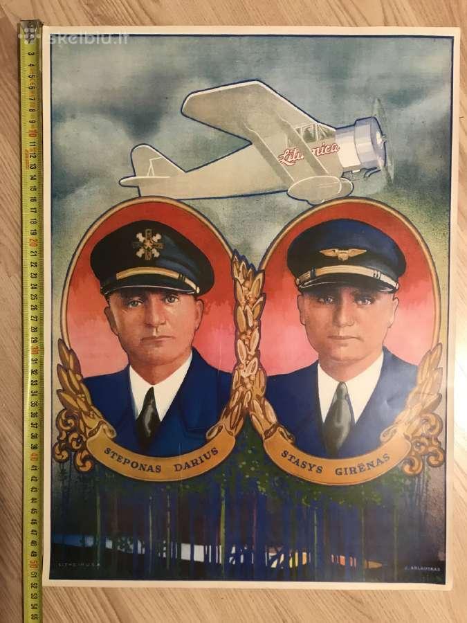 Plakatas Steponas Darius ir Stasys Girėnas