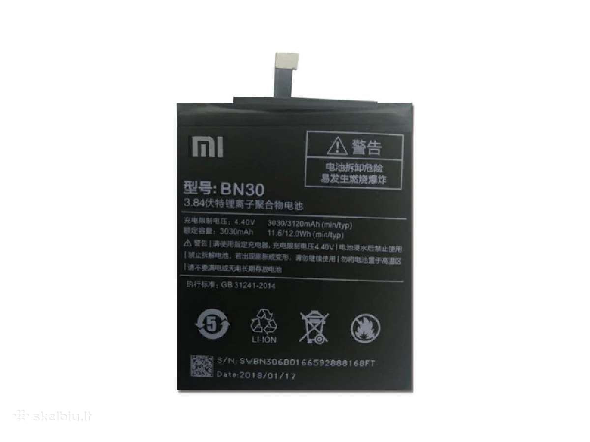 Xiaomi Redmi 4a originali baterija