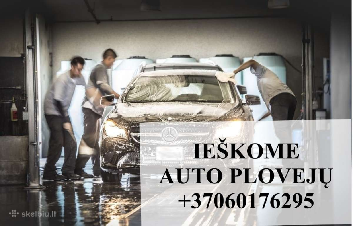Skubiai ieškome auto plovėjo mokame nuo 800 eur