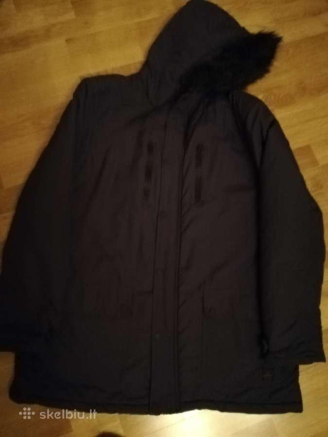 Vyriška tamsiai mėlyna žieminė striukė