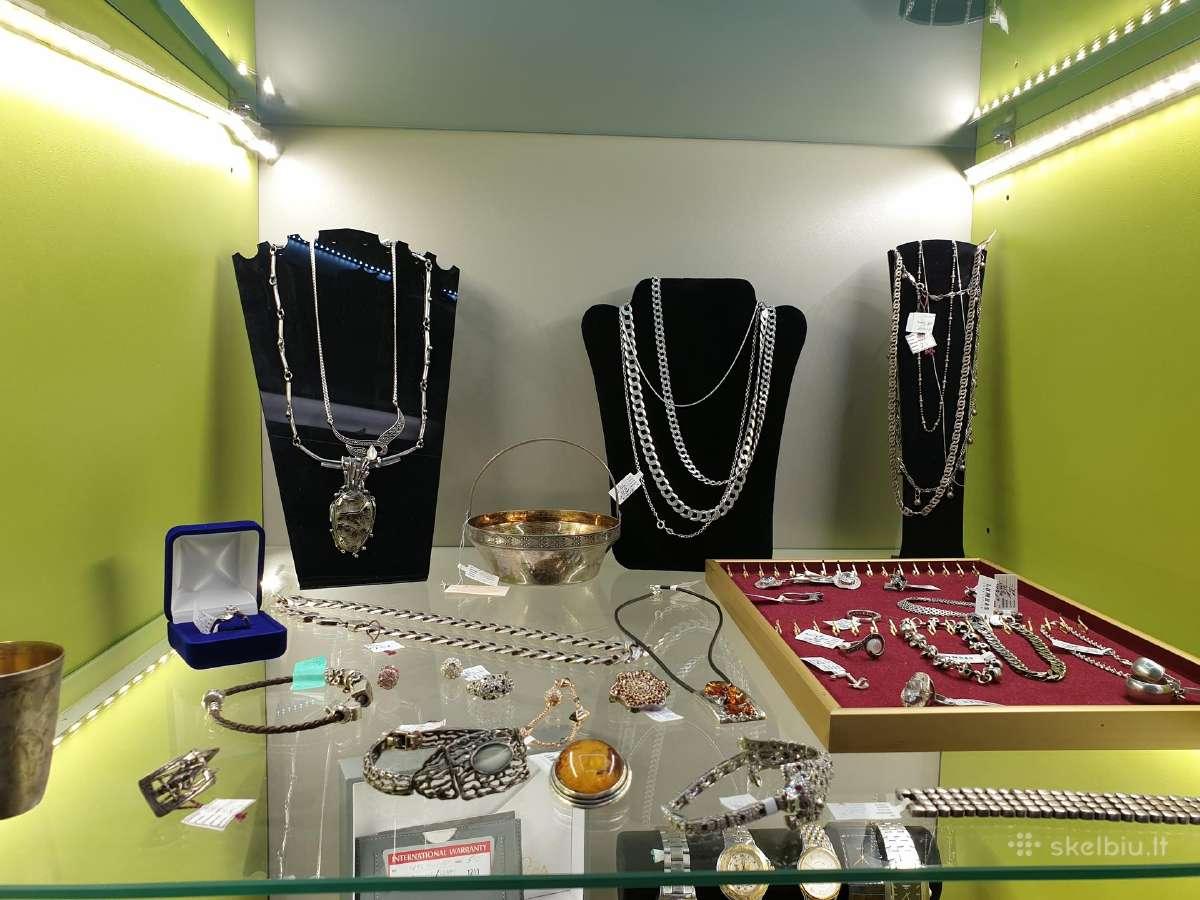 Prekiaujame sidabriniais papuošalais. Nuo 5 eur