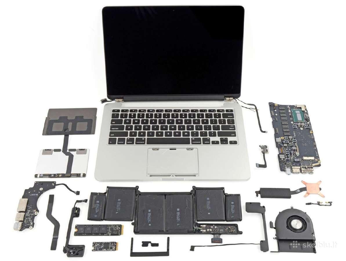 Nešiojamieji kompiuteriai dalimis