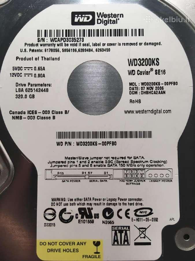 Western Digital Caviar Se16 Wd3200ks Sata Wd