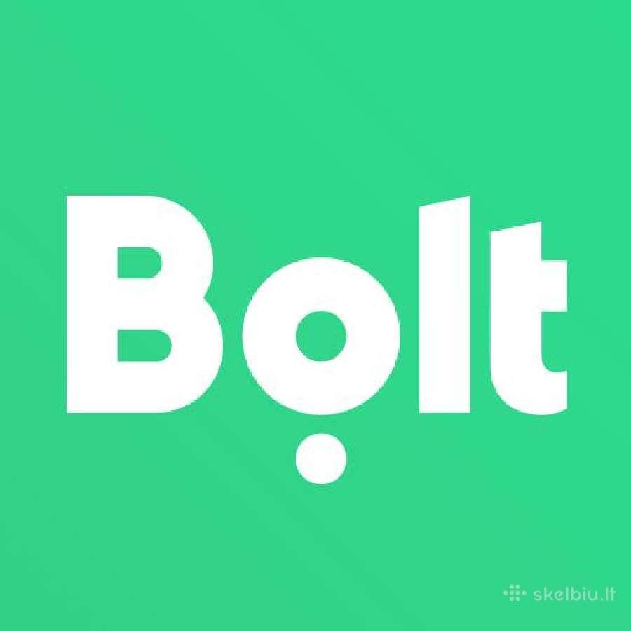 Bolt taksi vairuotojas arba pavežėjas