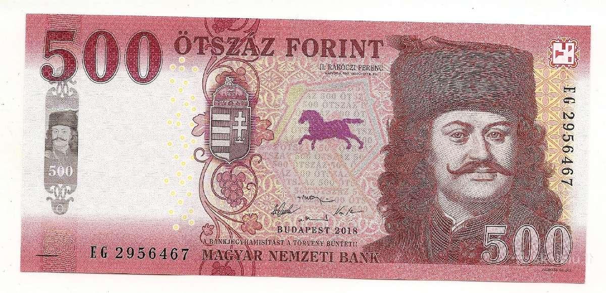 Vengrija 500 forint 2018 Pnew