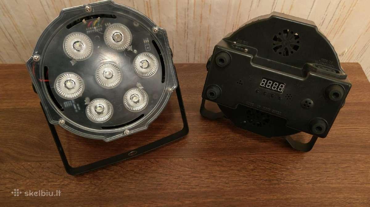 Dmx sistemos šviesų valdymo pultas ir led par 56 s