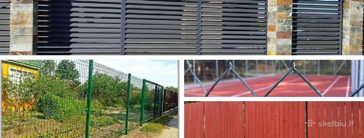 Tvoros, vartai, varteliai, gamyba ir montavimas