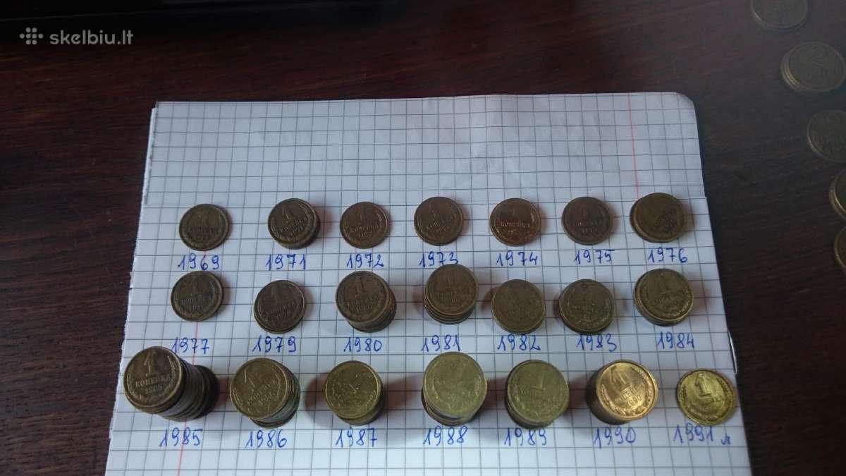 CCCP 1kapeikos monetos