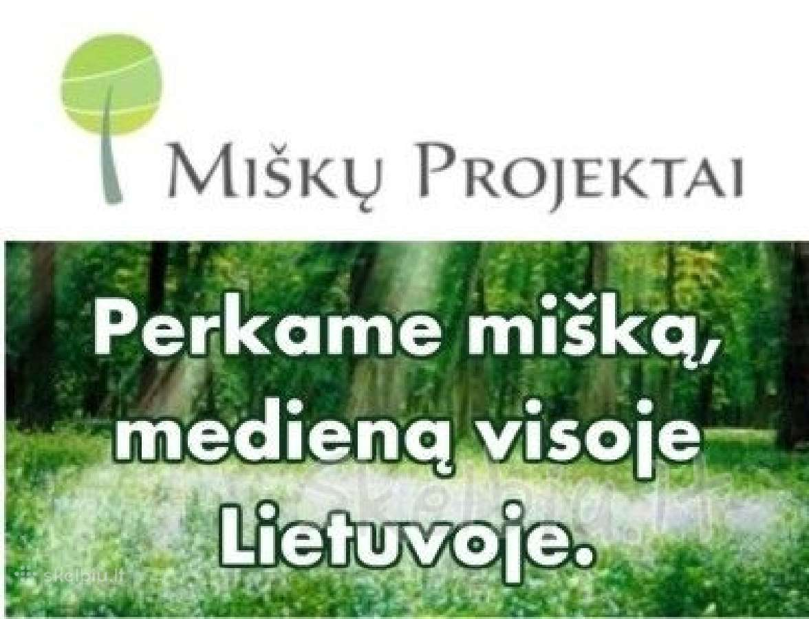 """UAB """"Miškų projektai"""" perka mišką"""