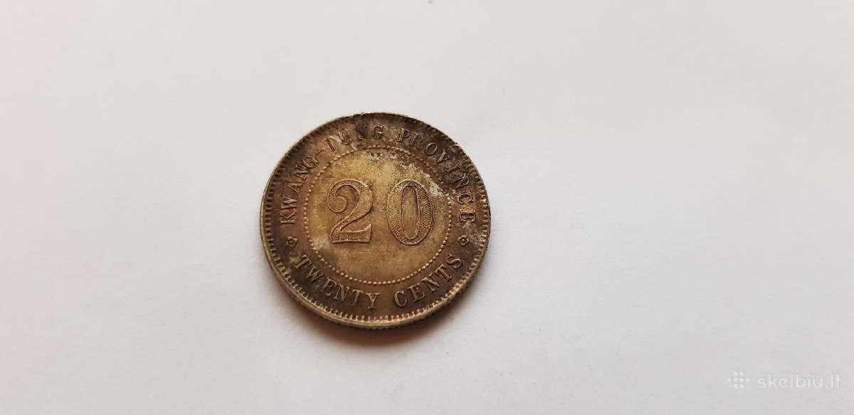 1921 Kinija Kwang tung province 20 centu , Unc