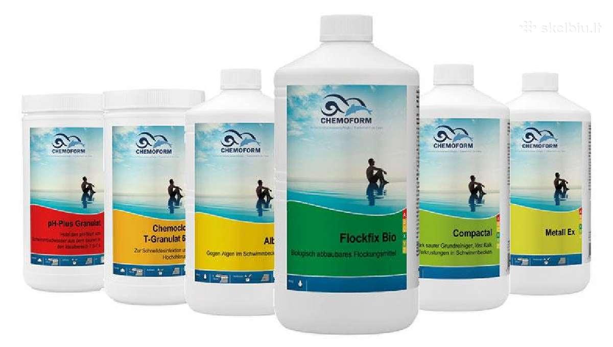 Baseinų chemija + konsultacijos, baseinų įranga