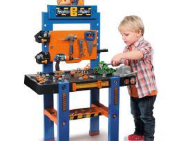 Vaikiškas ypač didelis darbastalis su įrankiais